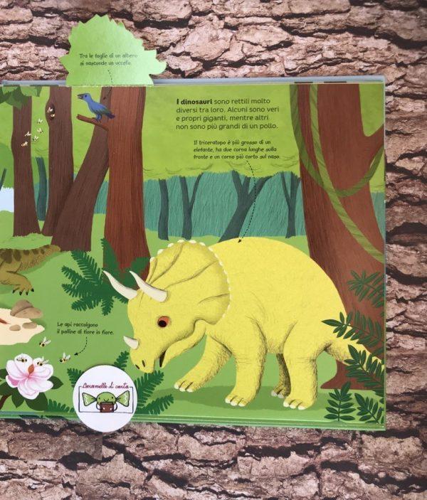 Al tempo dei dinosauri libro bambino