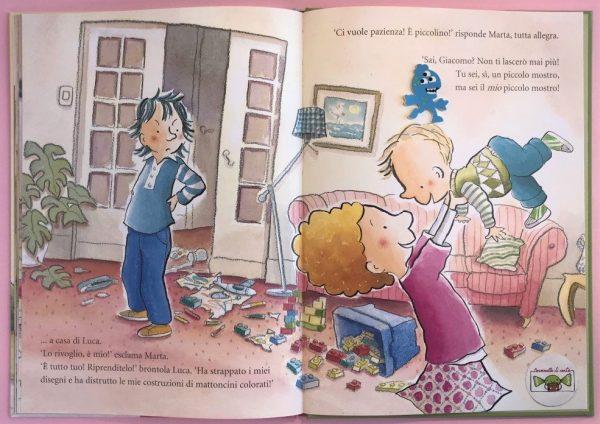 Fratello vendesi libro bambina