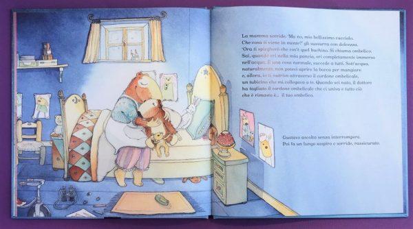 L'ombelico di gustavo libro bambini
