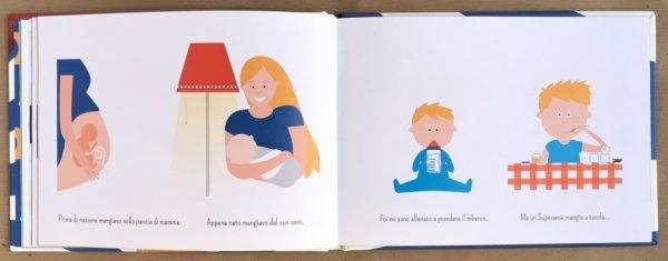 Super Tommy cresce libro bambina