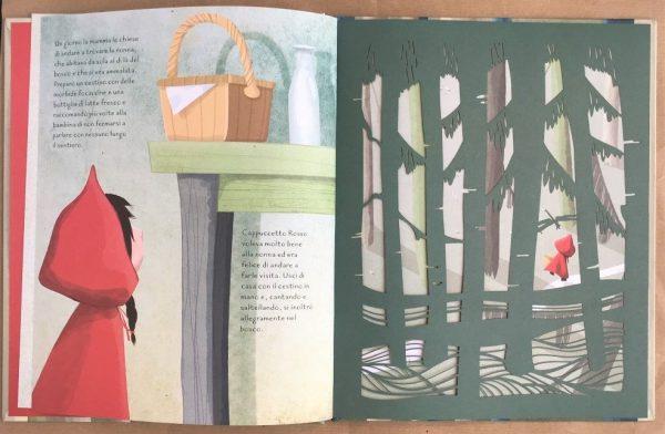 Cappuccetto Rosso fiabe intagliate libro bambini