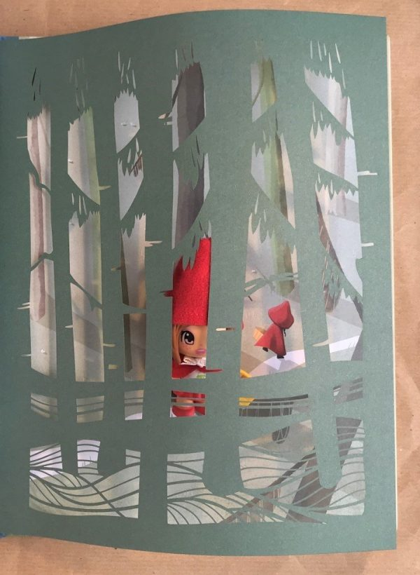 Cappuccetto Rosso fiabe intagliate libro bambino