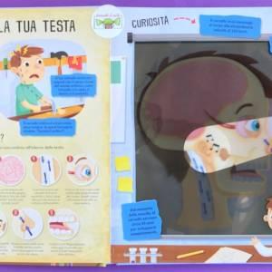 Il corpo umano libri torcia libro bambino