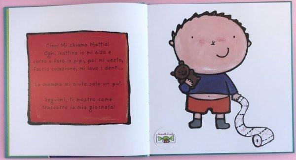 Il grande libro di Mattia la mia giornata libro bimbi