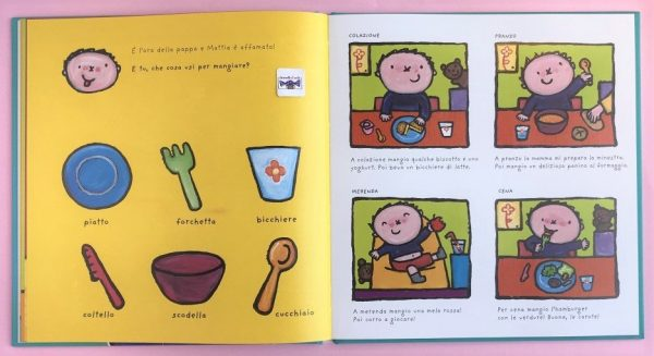 Il grande libro di Mattia la mia giornata libro bambina