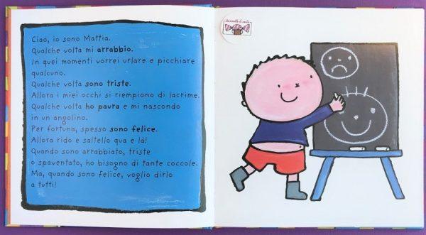 Il grande libro di Mattia le mie emozioni libro bambini