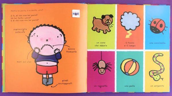Il grande libro di Mattia le mie emozioni libro bambina