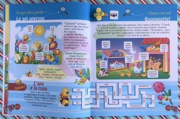 Imparo l'inglese gli animali libro bambina