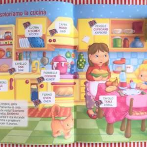 Imparo l'inglese la casa libro bambino