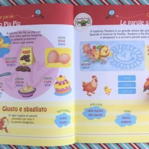 Imparo l'inglese la fattoria libro bambino