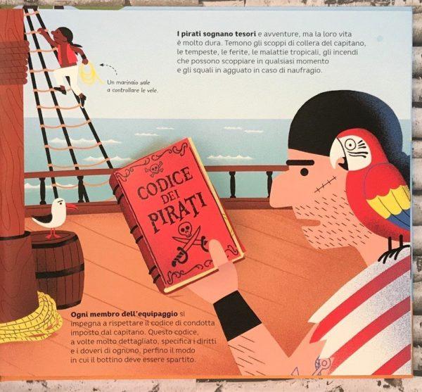 Le avventure dei pirati libro bambino