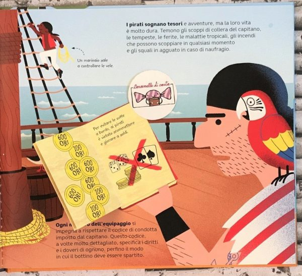 Le avventure dei pirati libro bambina