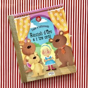Riccioli d'oro e i tre orsi libro bambini