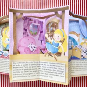 Riccioli d'oro e i tre orsi libro bambino