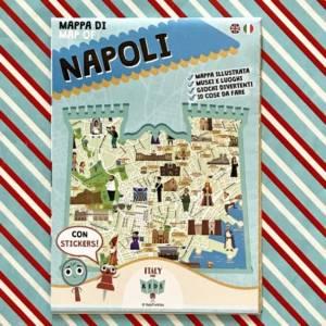 Mappa di Napoli con stickers libro bambini