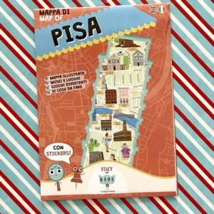 Mappa di Pisa con stickers libro bambini