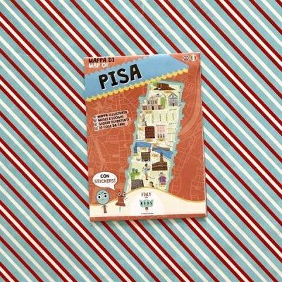 Mappa di Pisa con stickers - Italy for Kids