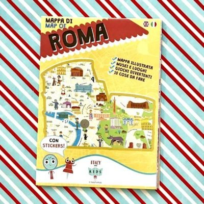 Mappa di Roma con stickers - Italy for Kids