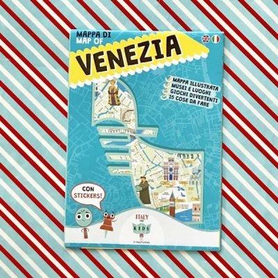 Mappa di Venezia con stickers - Italy for Kids