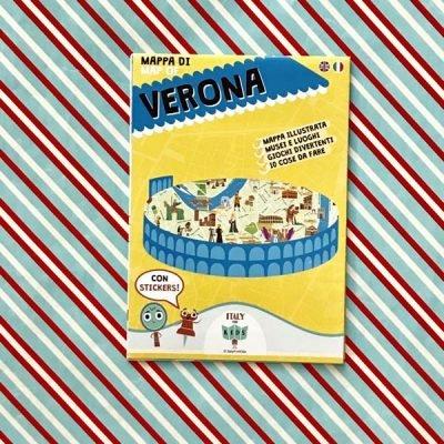Mappa di Verona con stickers - Italy for Kids