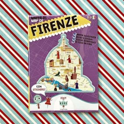 Mappa di Firenze illustrata. Con stickers