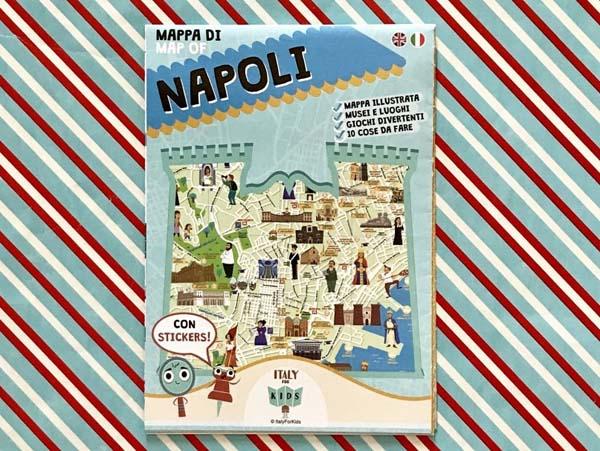 La Cartina Di Napoli.Mappa Di Napoli Con Stickers Libri Per Bambini Caramelle Di Carta It