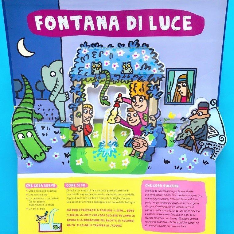 Esperimenti pop up con l'acqua libro bambini