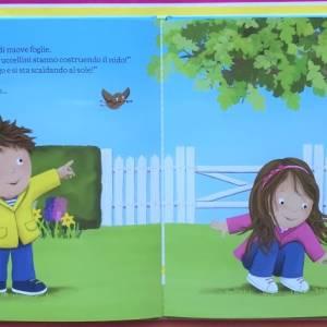 Giulio e Giada viva la primavera libro gemelli