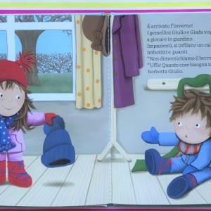 Giulio e Giada viva l'inverno libro gemelli