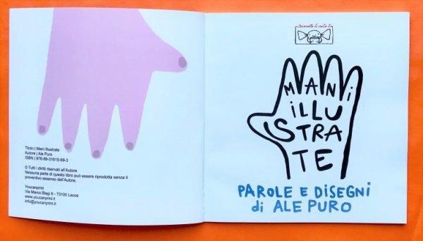 Mani Illustrate libro bambini caramelle di carta ale puro