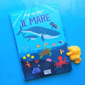 Il mare pop up 360° libro bambini sassi science 1