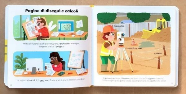 Il cantiere libri per bambini escavatori gru camion