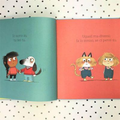 Diversi ma uguali libri per bambini differenze