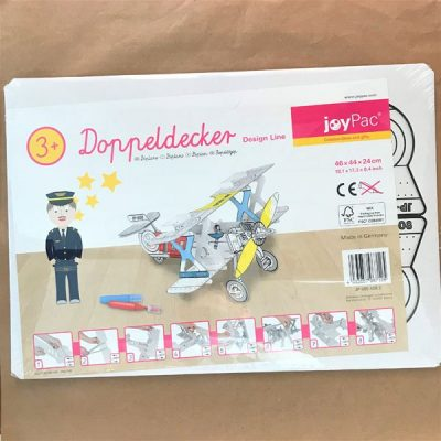 Aereo in cartone da colorare Joypack bambini libri per bambini