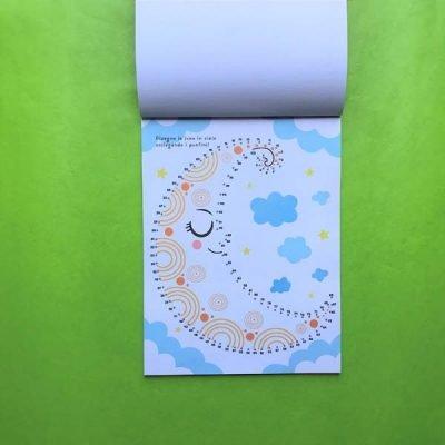 Collego i punti - lo spazio libro pregrafismo prescrittura bambini