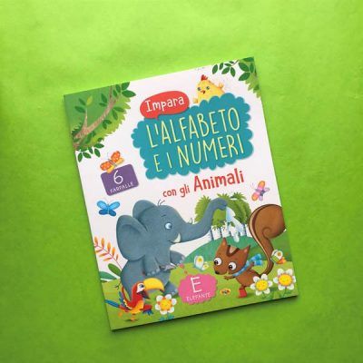 Impara l'alfabeto e i numeri con gli animali libro pregrafismo scuola bambini