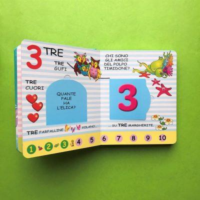 Numeri libro per bambini pre scuola pregrafismo 3