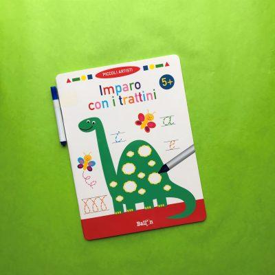imparo con i trattini libro per bambini pregrafismo prescrittura