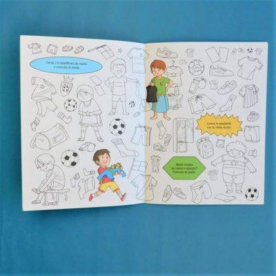 Viva il calcio cerca e colora libro bambini disegno estate